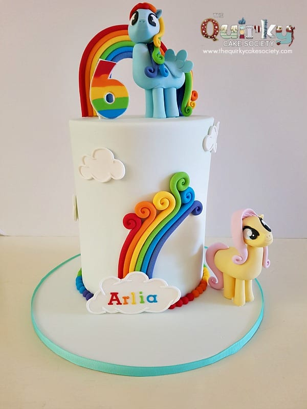 rainbow dash cake rainbow dash and flutterfly my pony cake the 6949
