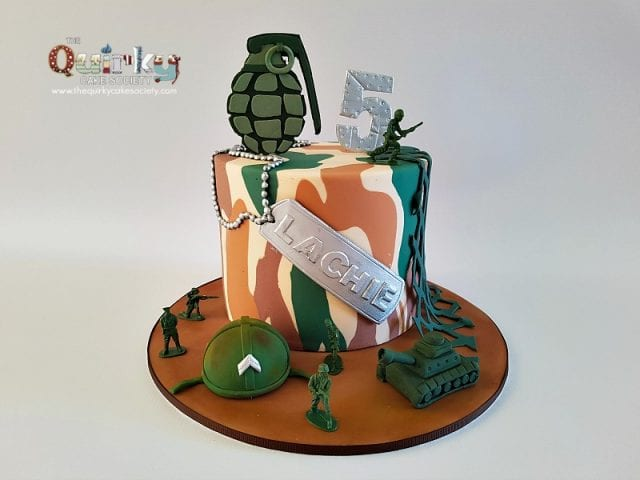 In coming!!! Army Cake