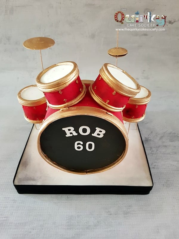Drum Kit Cake Topper