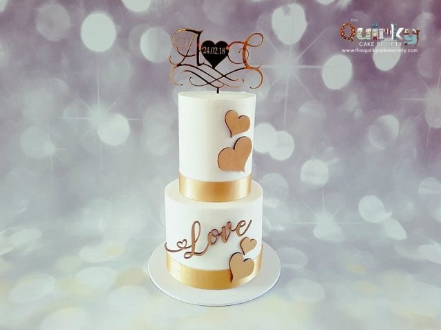 """Love"" Engagement Cake"