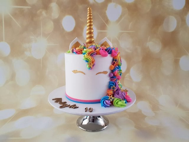 Rainbow Unicorn Buttercream cake