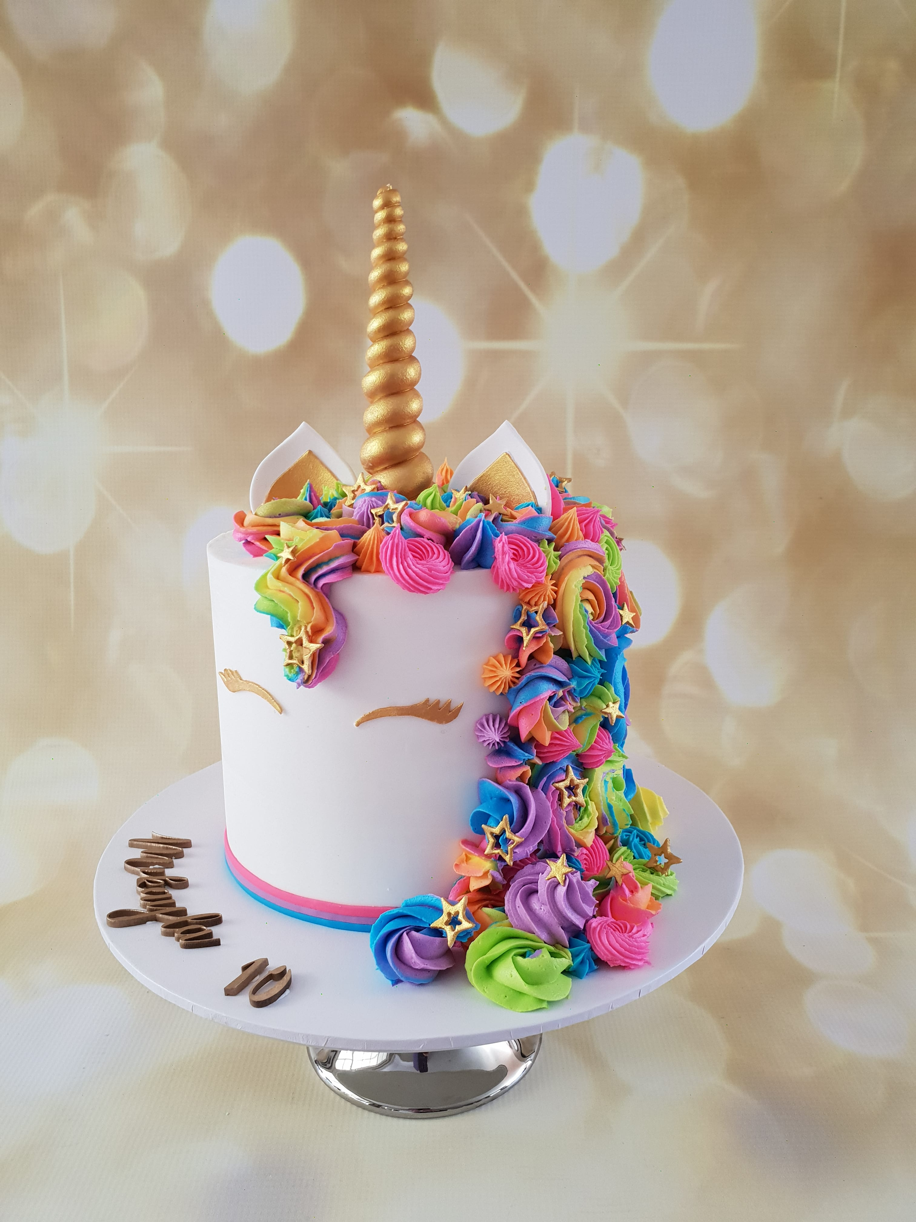 Rainbow Unicorn Buttercream Cake The Quirky Cake Society