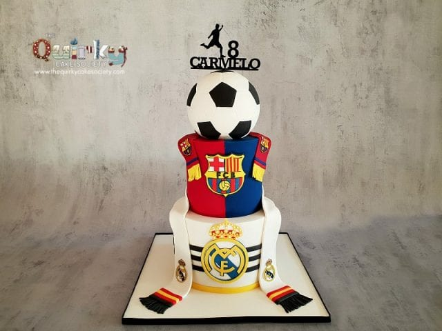 Barcelona vs Real Madrid Cake