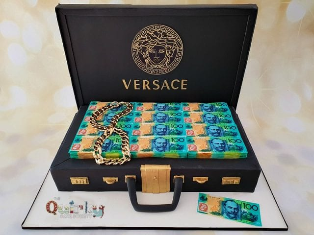 Versace Brief case cake