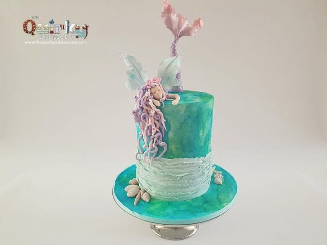 Watercolour Mermaid cake