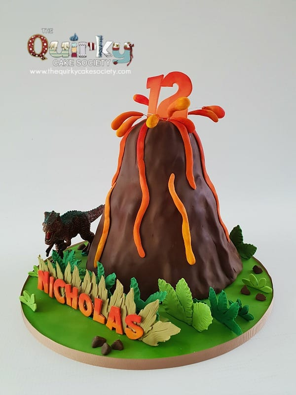 Volcano Cake The Quirky Cake Society
