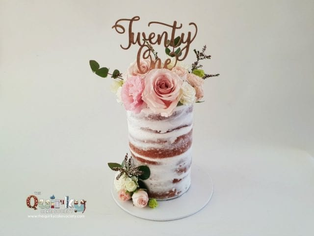 Romantic blooms Cake