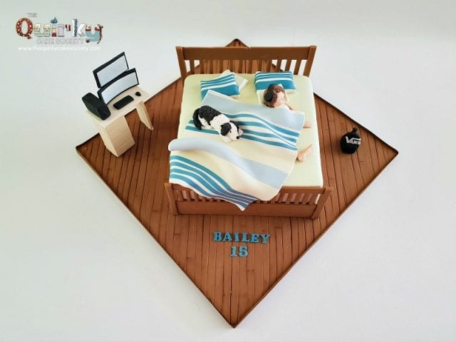 Teenage Boy Bedroom cake