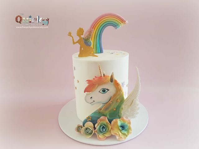 Unicorn, fairy and  Rainbow cake