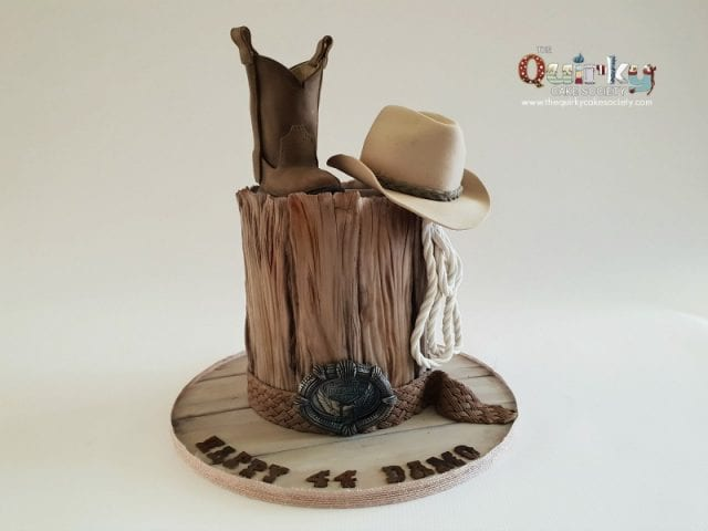 Akubra and Ariat Cowboy Cake