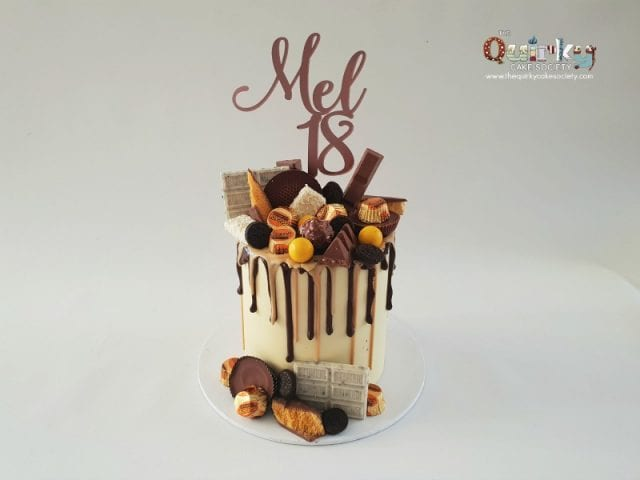 Reeces Buttercup drip cake