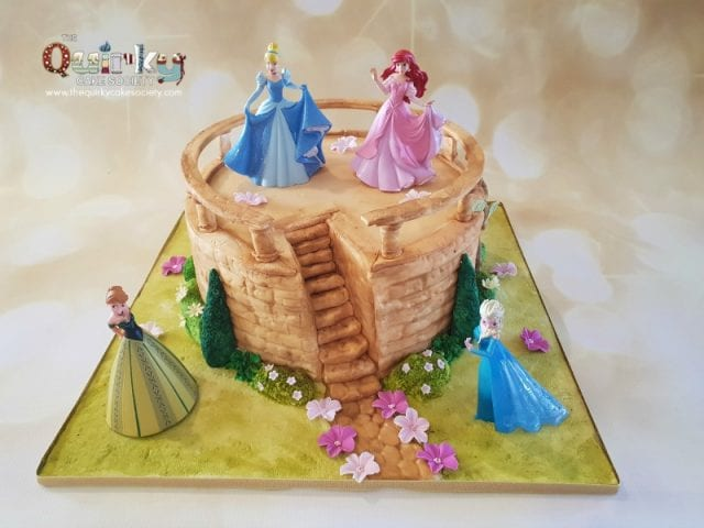 Disney Princesses castle cake