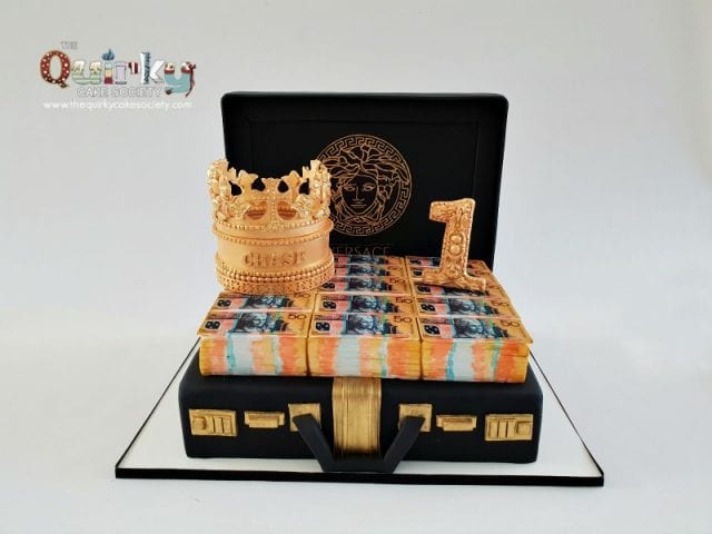 Million Dollar Briefcase cake