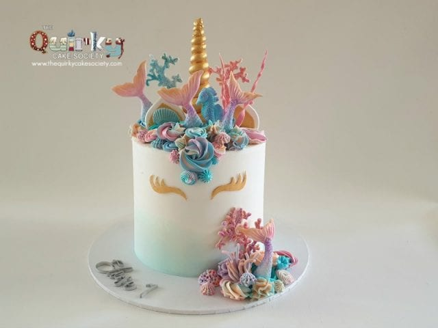 Mermaid Unicorn Buttercream Cake