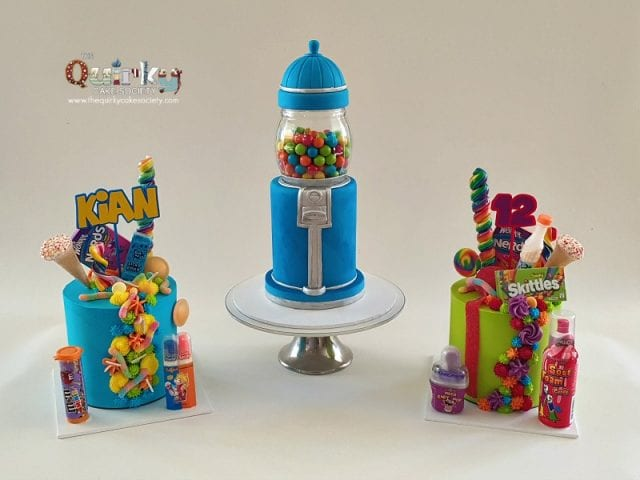 GumBall Machine cake and Lolly Drip cakes